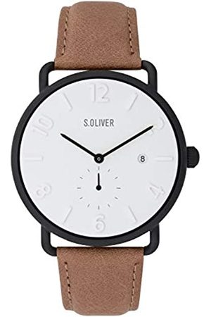 s.Oliver Mens Analogue Quartz Watch with Leather Strap SO-3718-LQ