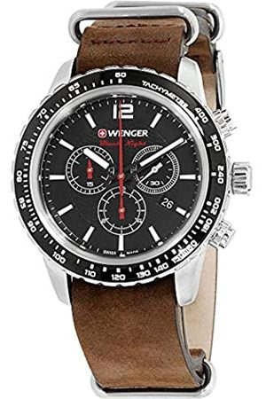 Wenger Unisex Analogue Quartz Watch with Leather Strap 01.0853.106