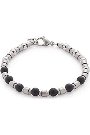 Leonardo Jewels JEWELS BY LEONARDO men bracelet Palermo stainless steel/silver colored glass black 20