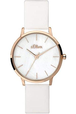 s.Oliver Womens Analogue Quartz Watch with Leather Strap SO-3703-LQ