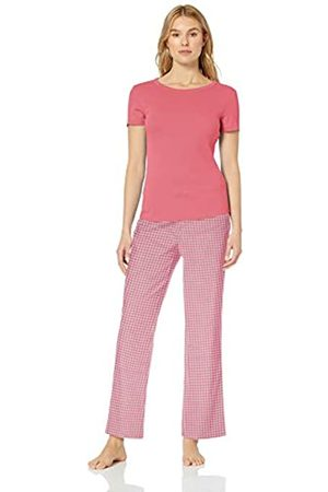 Amazon Essentials Poplin Sleep Tee and Pant Set Pajama