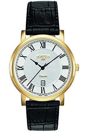 Roamer Men's Quartz Watch with Dial Analogue Display and Leather Strap 709856 48 22 07