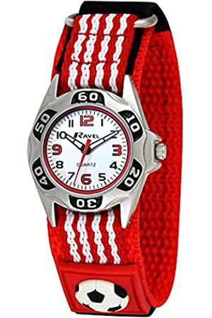 Ravel Red and White Football Watch with Action Secure Strap