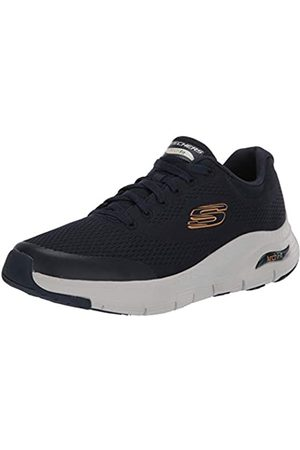 Skechers Men's Arch FIT Trainers, (Navy Textile/Synthetic/Trim NVY)