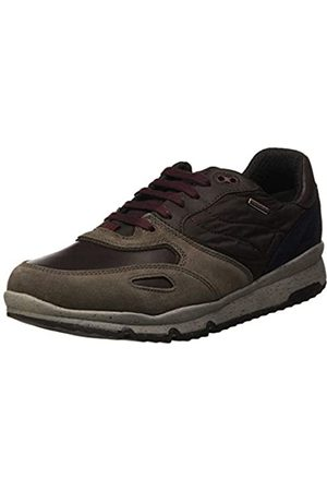Geox Men's U Sandford B ABX A Low-Top Sneakers, (Taupe/dk Coffee Cq66t)
