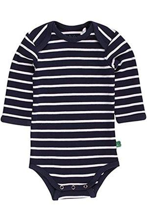 Green Cotton Baby Rompers - Baby Stripe l/sl Body Bodysuit