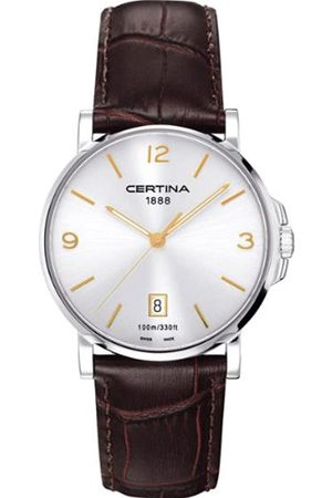 Certina Men's XL Analogue Quartz Watch with Leather Strap C017.410.16.037.01