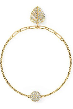 Swarovski Women's Gold-tone plated Remix Collection Tropical Leaf Strand 5528850