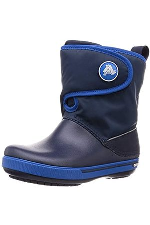 Crocs Kids' Crocband II.5 Gust Boot Snow, (Navy/Bright Cobalt)