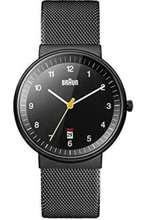von Braun Men's Quartz Watch with Dial Analogue Display and Mesh Bracelet BN0032BKBKMHG
