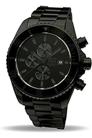 Davis Mens Luxury Sport Diving Watch-Chronograph-Sapphire Glass-Waterresistant 200M- Steel Strap