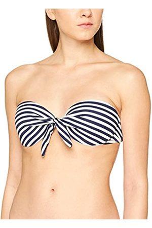 New Look Women Textured Stripe Bikini Top, One Size