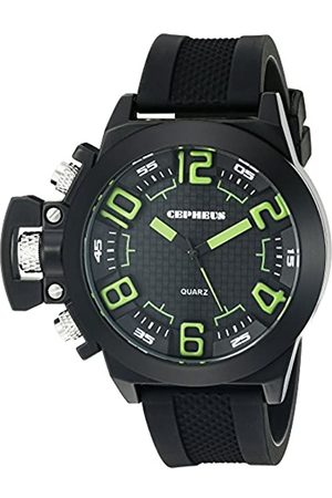 CEPHEUS Men's Quartz Watch with Dial Analogue Display and Silicone Strap CP901-622D