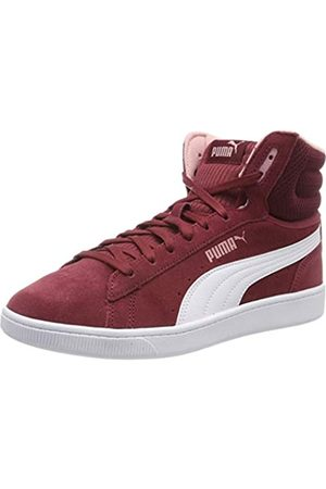 Puma Women's Vikky v2 Mid Hi-Top Trainers, Cordovan -Bridal Rose