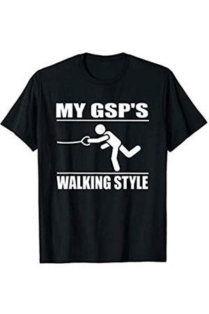 ToonTyphoon Amusing German Shorthaired Pointer Walking Style T-Shirt