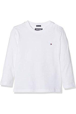 Tommy Hilfiger Jungen Boys Basic Cn Knit L/S T-Shirt, Weiß (Bright 123)
