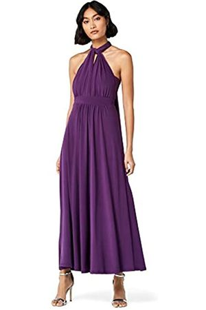 TRUTH & FABLE Amazon Brand - Women's Maxi Halter Dress, 16
