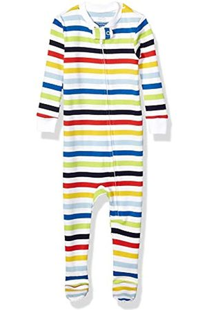 Amazon Essentials Baby and Toddler Zip-front Footed Sleeper Rainbow Stripe