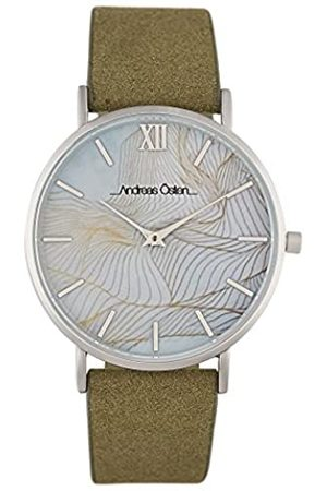 Andreas Osten Unisex-Adult Analogue Classic Automatic Watch with Leather Strap AO-221