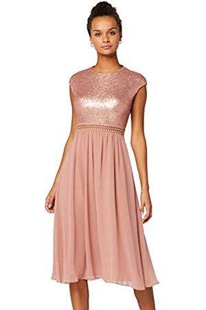 TRUTH & FABLE Amazon Brand - Lace Trim Bridesmaid Midi Dresses