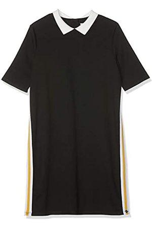 Kiss IKKS Girls' Robe Noire COL Claudine Blanc Party Dress, 02
