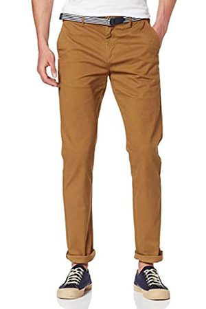 Scotch & Soda Men's AMS Blauw Stuart Chino with Belt in Stretch Peached Quality Trouser