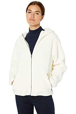 Daily Ritual Teddy Bear Hooded Zip Jacket Ivory