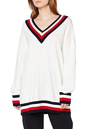Tommy Hilfiger Women's Th Essential Tipping V-nk SWTR Sweatshirt