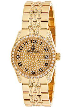 Burgmeister Diamond Star Bm119-299 Gents Quartz Analogue Wristwatch Swarovski Date