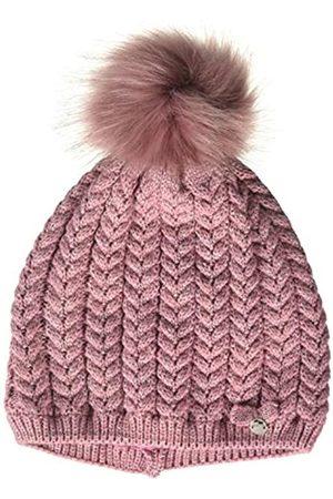 maximo Girls' Mit Zopfstruktur und Kunstfellpompon Hat
