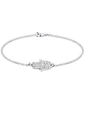 Elli Women's 925 Sterling Xilion Cut Swarovski Crystals Bracelet 18 cm