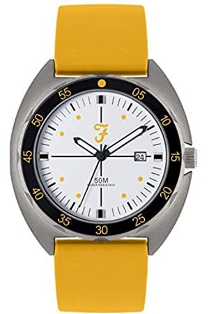 Farah Unisex Adult Analogue Classic Quartz Watch with Silicone Strap FAR2018