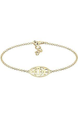 Elli Women Wordings Hope lettering 925 Silver Plated Bracelet