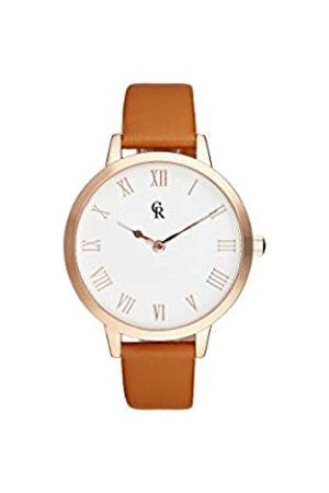 Charlotte Raffaelli Unisex Adult Analogue Quartz Watch with Leather Strap CRB003