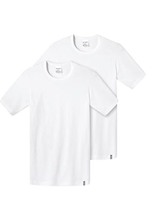 Schiesser Men's Shirt 1/2 Arm (2er Pack) Vest, -Weiß (Weiss 100)