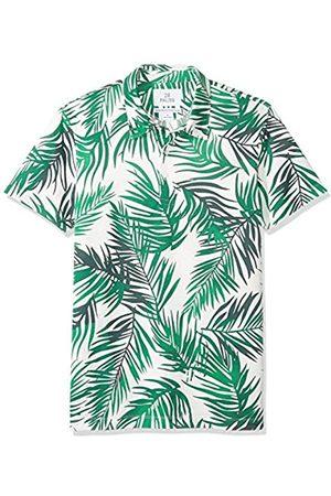 28 Palms Standard-Fit Hawaiian Performance Pique Polo Shirt / Palm Leaves