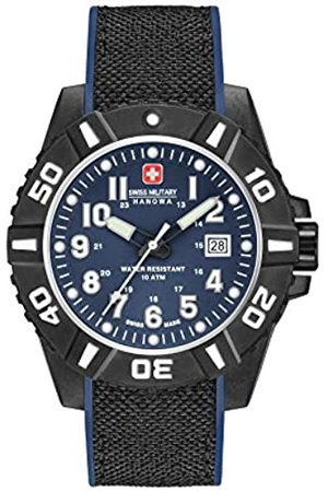 Swiss Military Mens Analogue Classic Quartz Watch with Silicone Strap 06-4309.17.003SM