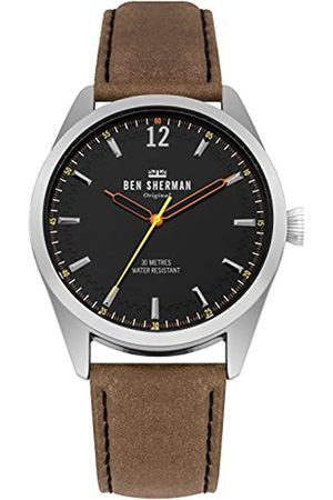 Ben Sherman Mens Analogue Classic Quartz Watch with Leather Strap WB019BT
