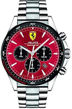 Scuderia Ferrari Mens Chronograph Quartz Watch with Stainless Steel Strap 0830619