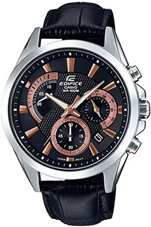 Casio Mens Chronograph Quartz Watch with Leather Strap EFV-580L-1AVUEF