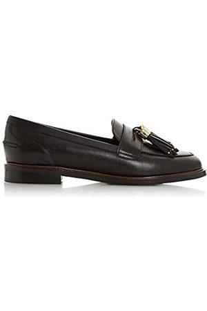 Dune Dune Ladies Women's Glazer Leather Tasseled Loafer Size UK 6 Block Heel