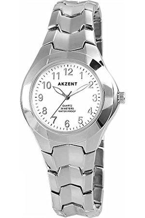 Akzent 88241 Wrist Watch Metal Band –