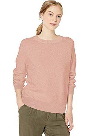 Daily Ritual Cozy Boucle Crewneck Pullover Sweater Pale Mauve