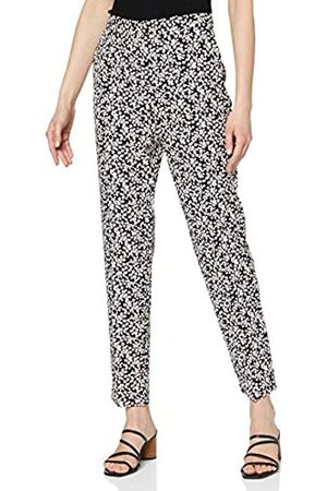 Dorothy Perkins Women's Navy Minnie Print Ankle Grazer Trousers Pants