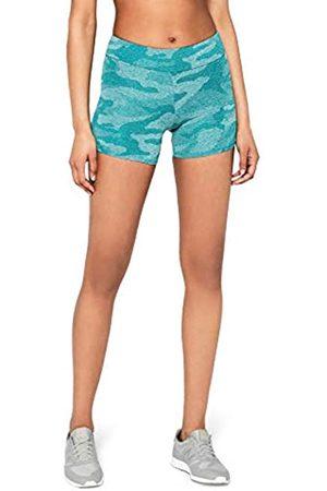 AURIQUE Amazon Brand - Women's Camo Cycling Shorts, 10