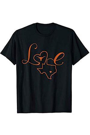 FanPrint Texas Longhorns Love - Apparel T-Shirt
