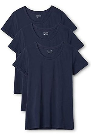 Berydale 3-Pack Women's T-Shirt with round neck in various colours, -Blau (Dunkelblau)