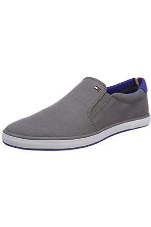 Tommy Hilfiger Men's Iconic Slip On Sneaker Trainers, (Steel 039)