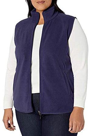Amazon Plus Size Full-zip Polar Fleece Vest Navy