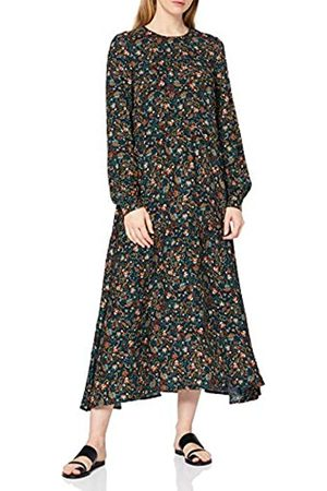 warehouse Women's Fearne Ditsy Tiered Midi Dress Casual